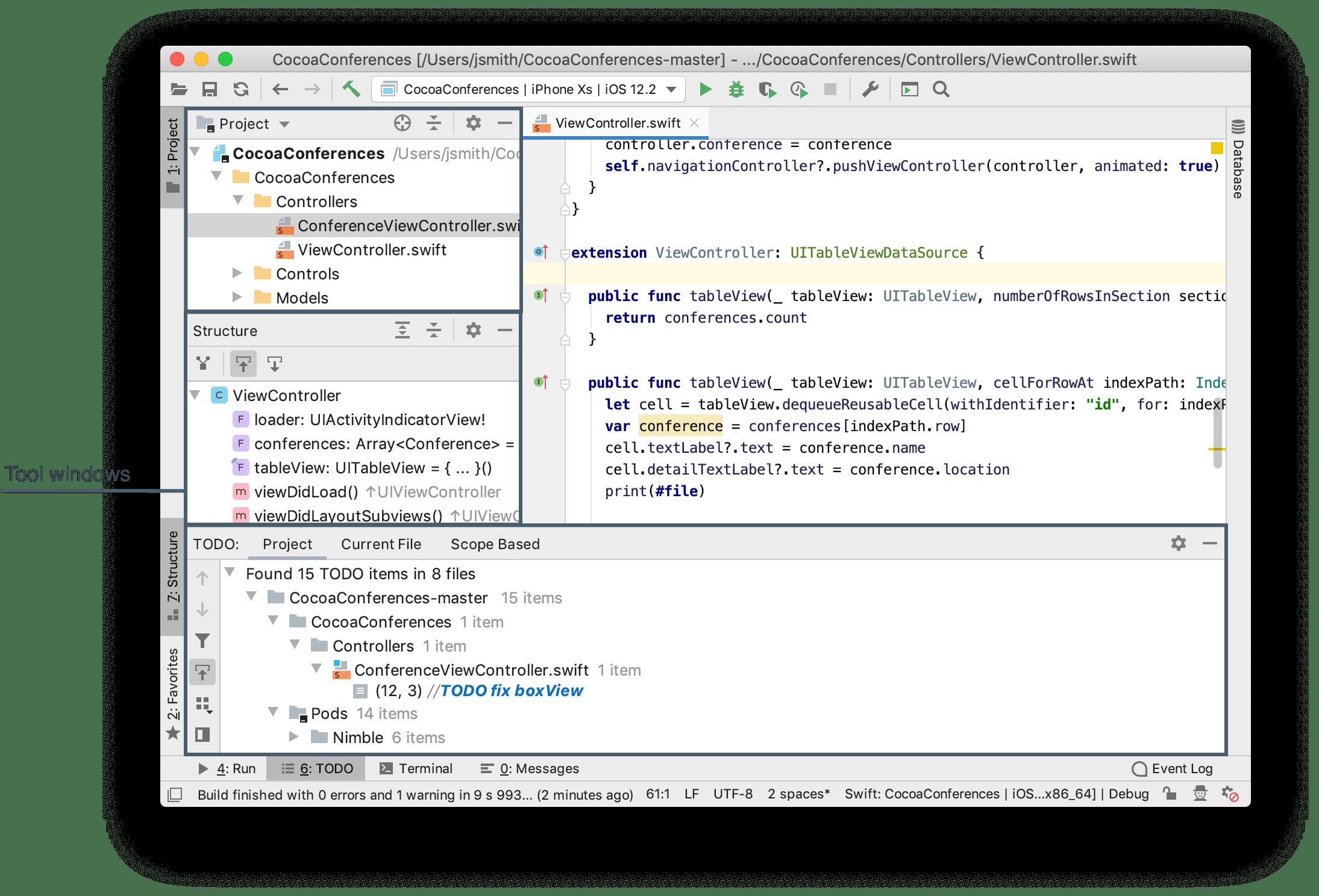 Tool windows - Help | AppCode