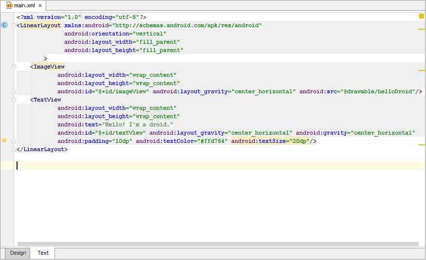Editing UI Layout Using Text Editor - Help   IntelliJ IDEA