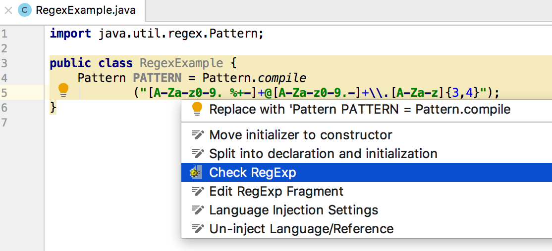 Regular Expression Syntax Reference - Help | IntelliJ IDEA