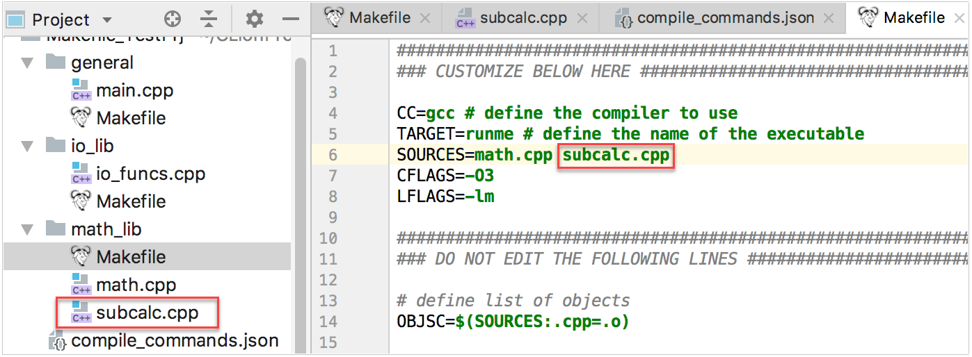 Makefile Template | Makefile Projects Help Clion