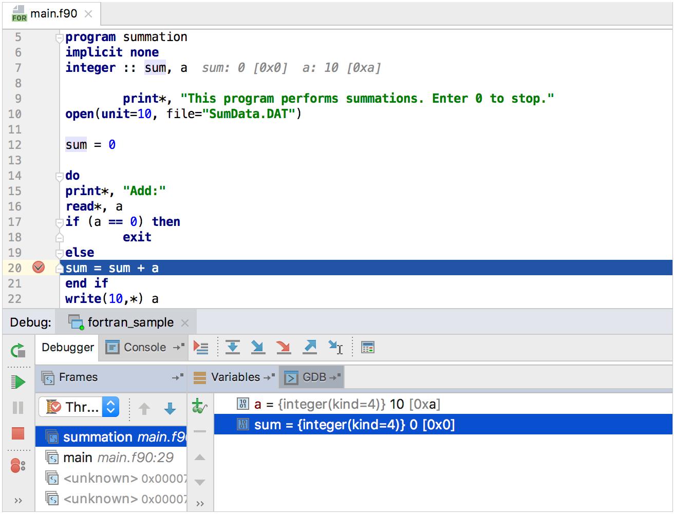 Execute Fortran Code Ubuntu