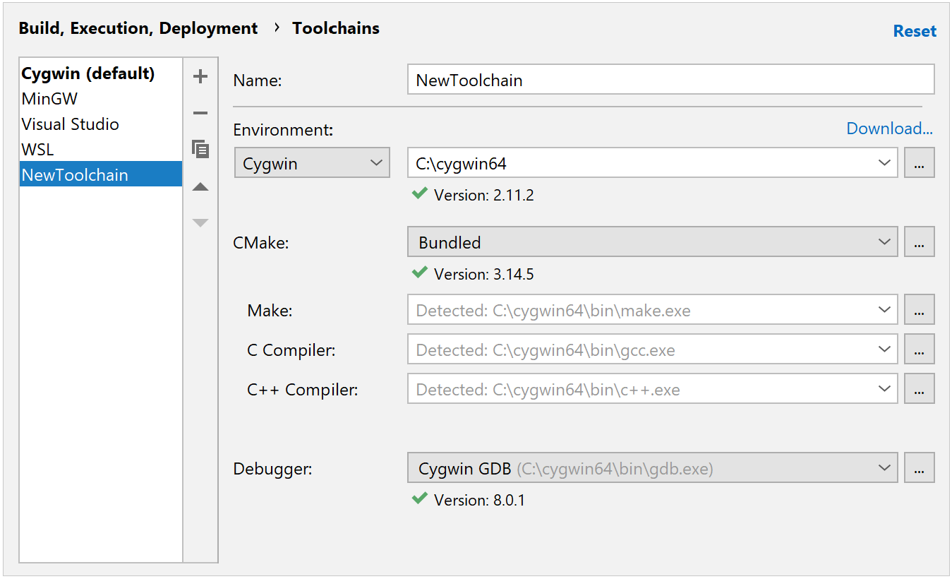 Toolchains - Help | CLion