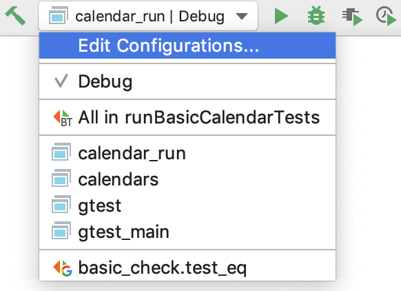Create and Edit Configurations - Help | CLion