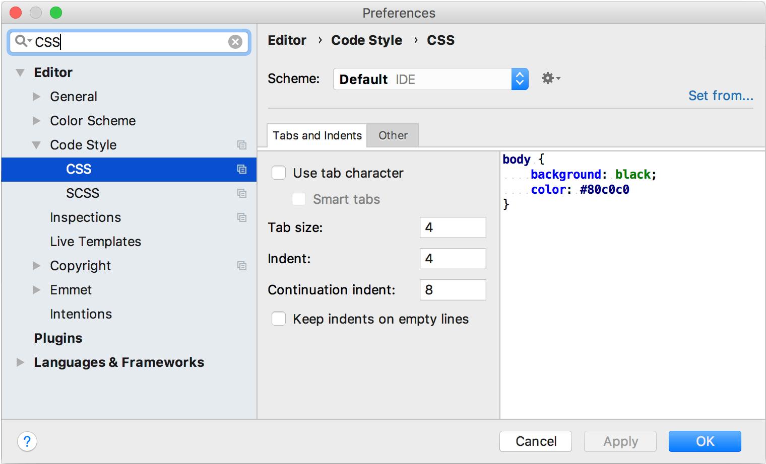 Configuring code style - Help | IntelliJ IDEA