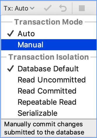 Change the transaction level