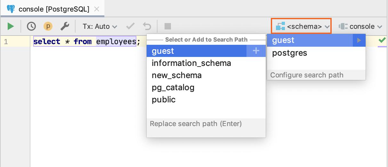 Database console - Help | DataGrip