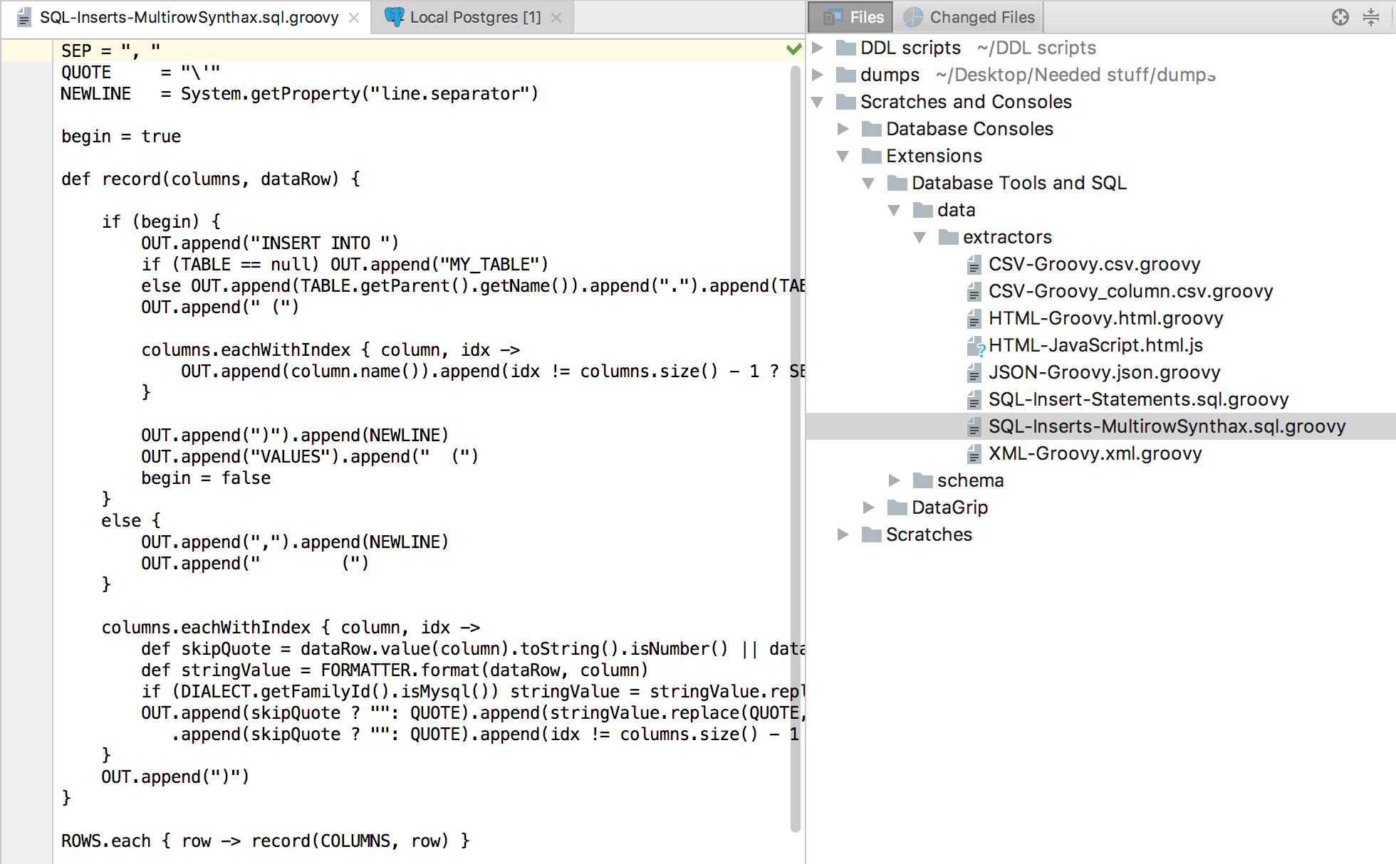 How to export data in DataGrip - Help | DataGrip