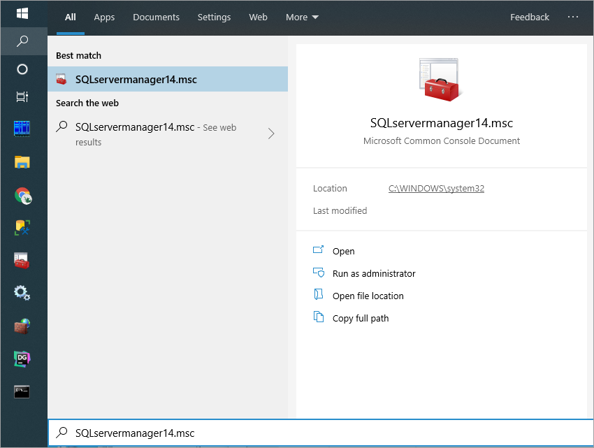 Open the SQL Server Configuration Manager