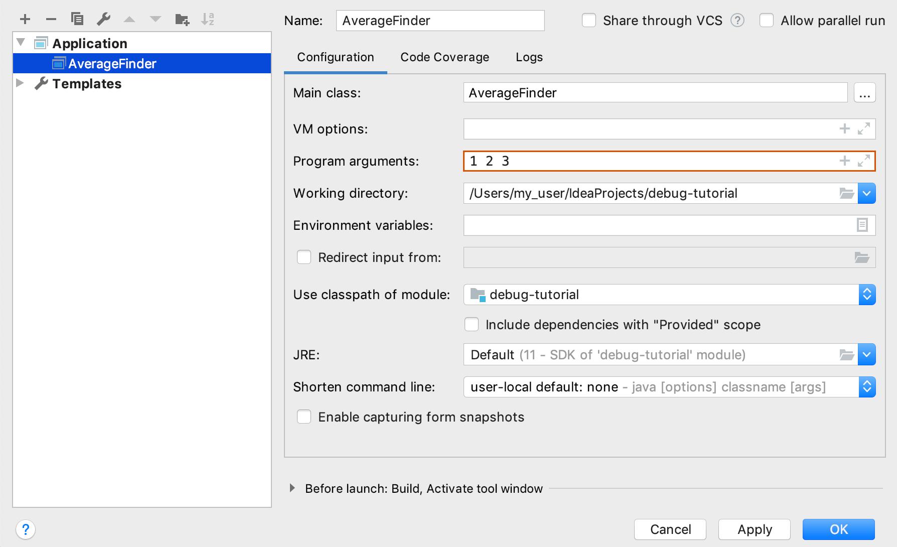 Debugging Your First Java Application - Help | IntelliJ IDEA