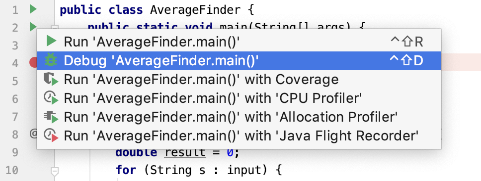 Debugging Your First Java Application - Help   IntelliJ IDEA