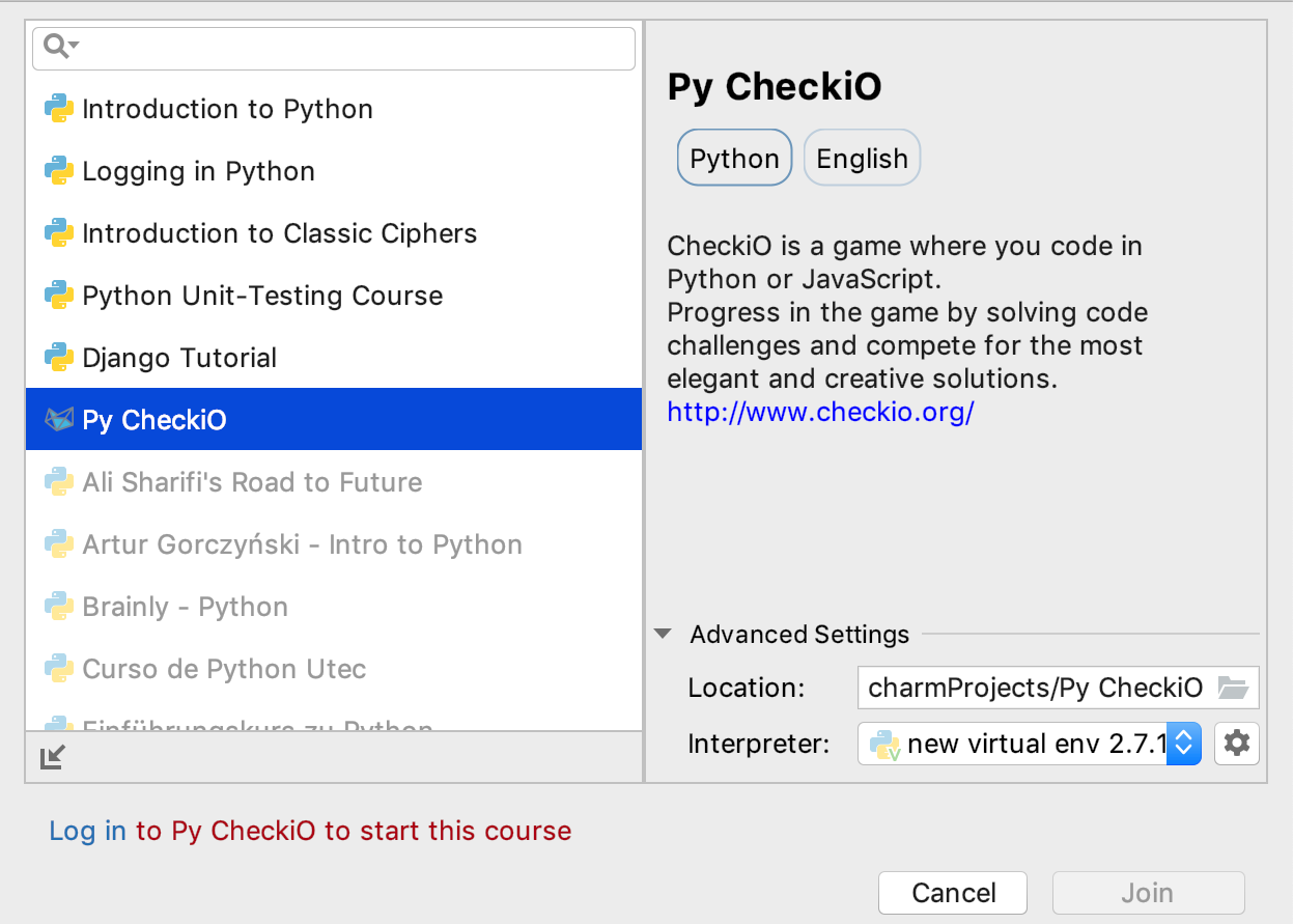 CheckiO Integration - Help   Educational Products