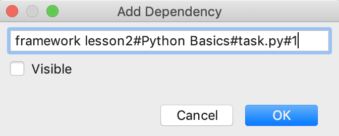 edu framework lesson add dependency python