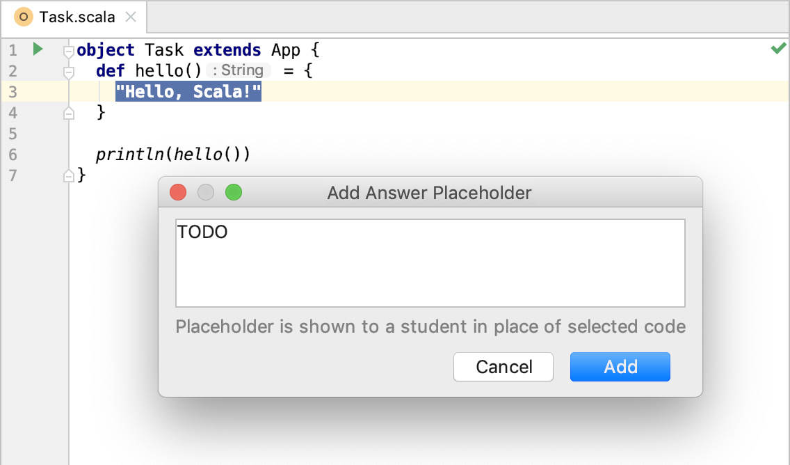 edu framework lesson add placeholder scala