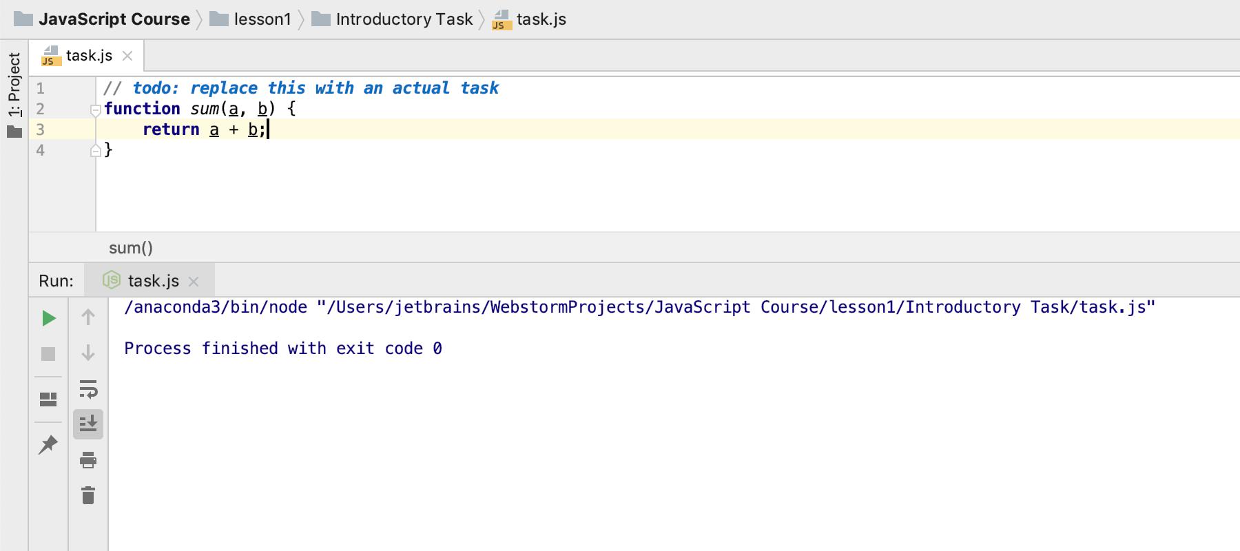 edu run task js