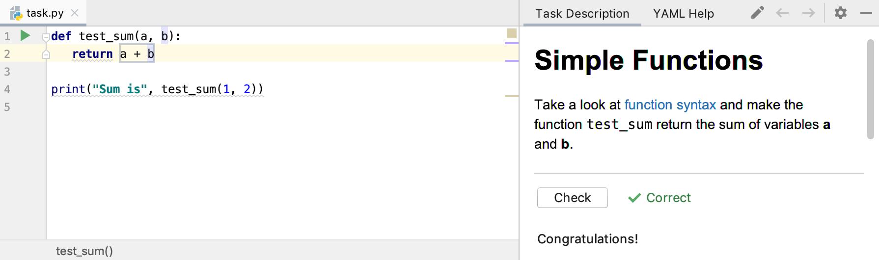 edu run test python