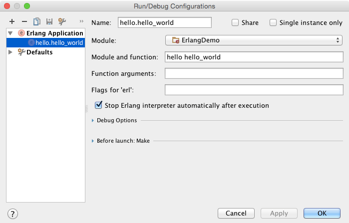 Getting Started with Erlang - Help | IntelliJ IDEA