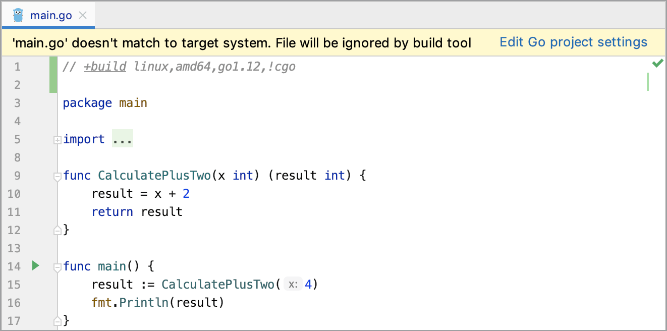 Notification about build constraints