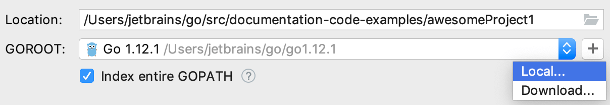 Navigate to a local copy of Go SDK