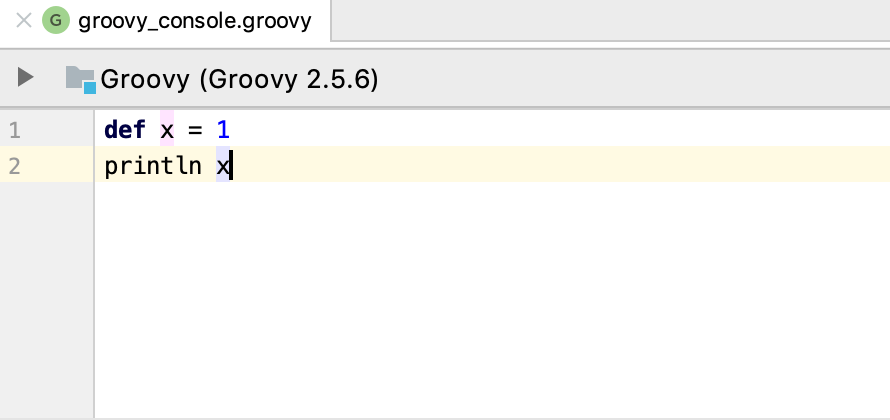 groovy editor console