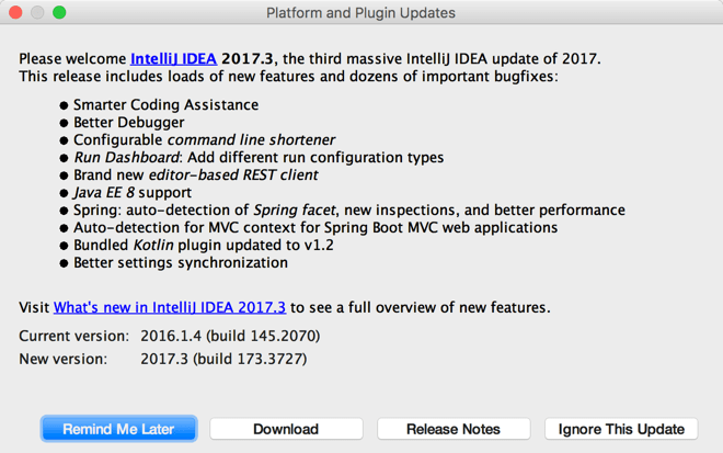 Update IntelliJ IDEA - Help | IntelliJ IDEA