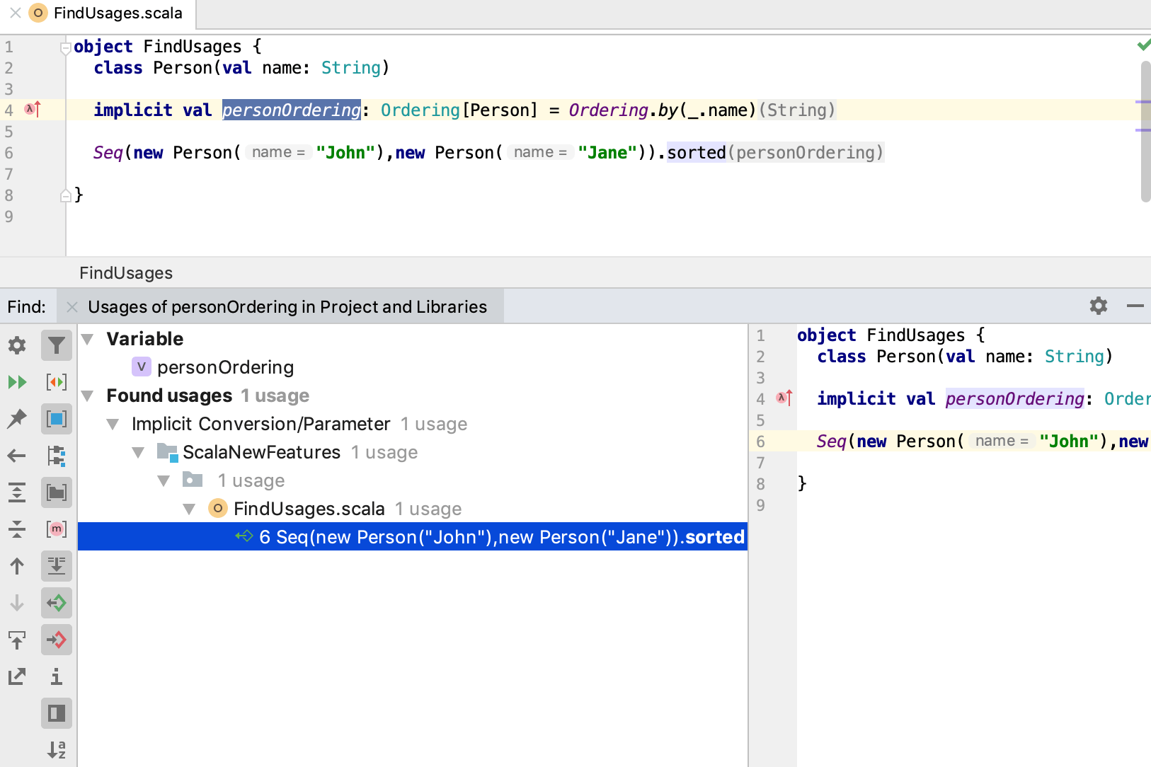 Work with Scala code in the editor - Help | IntelliJ IDEA