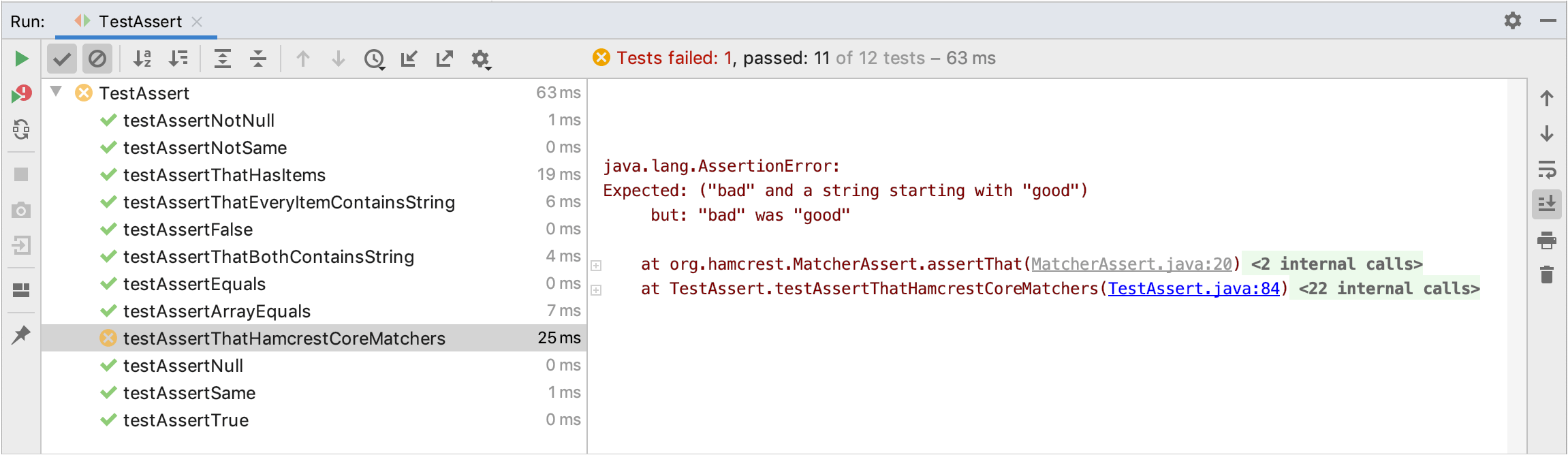 Monitoring and Managing Tests - Help | IntelliJ IDEA