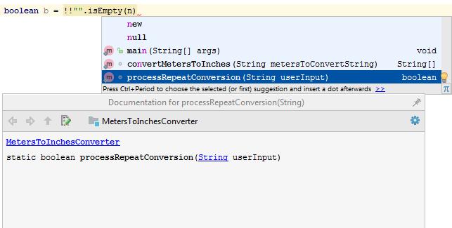 Code completion - Help | IntelliJ IDEA