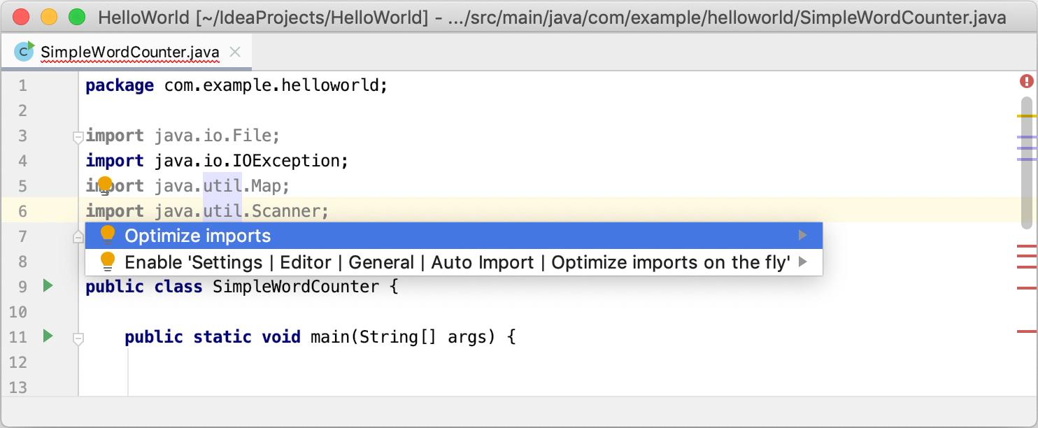 Auto import - Help | IntelliJ IDEA