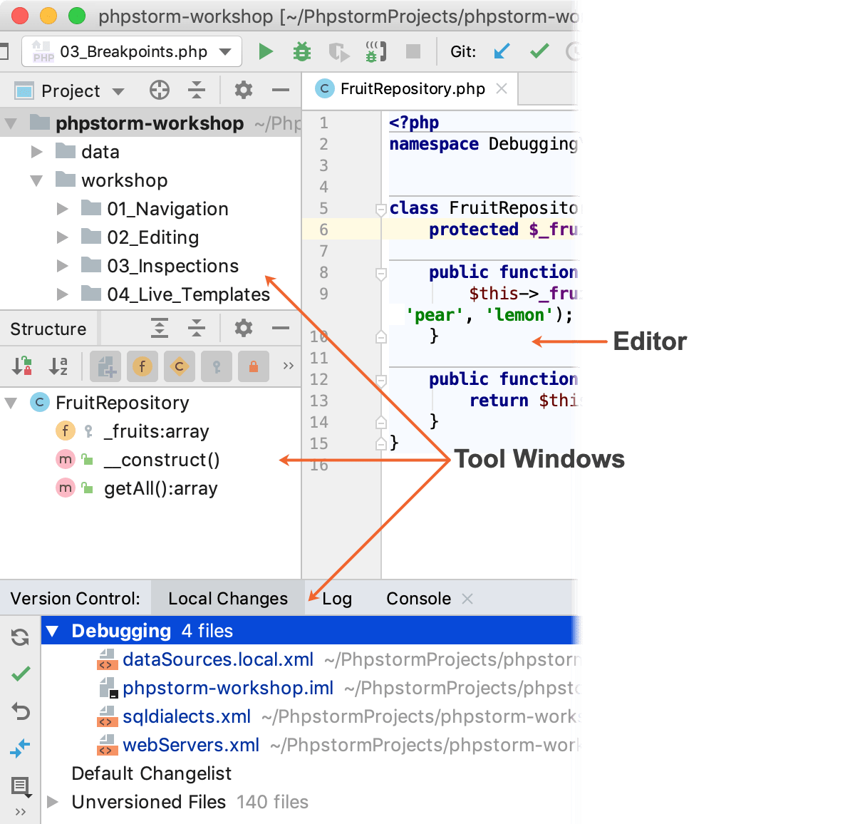 Working with Tool Windows - Help   PhpStorm