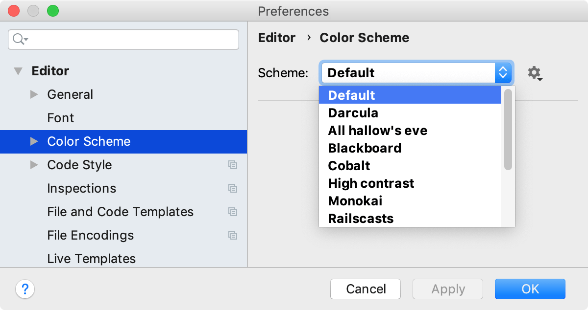 Configuring colors and fonts - Help | PhpStorm