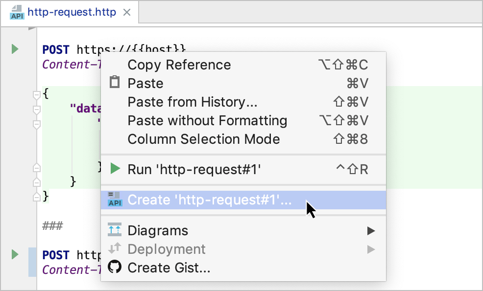 HTTP client in IntelliJ IDEA code editor - Help | IntelliJ IDEA