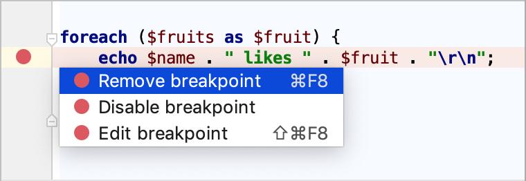 Breakpoints - Help   PhpStorm