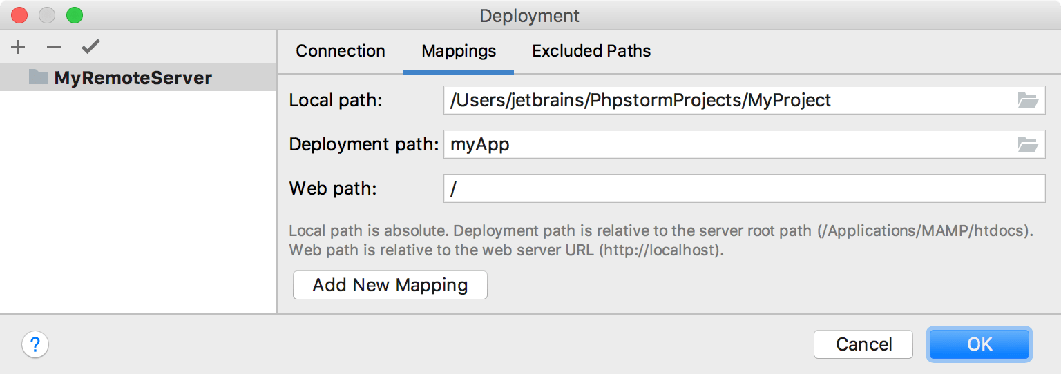 Deployment Mapping Tab