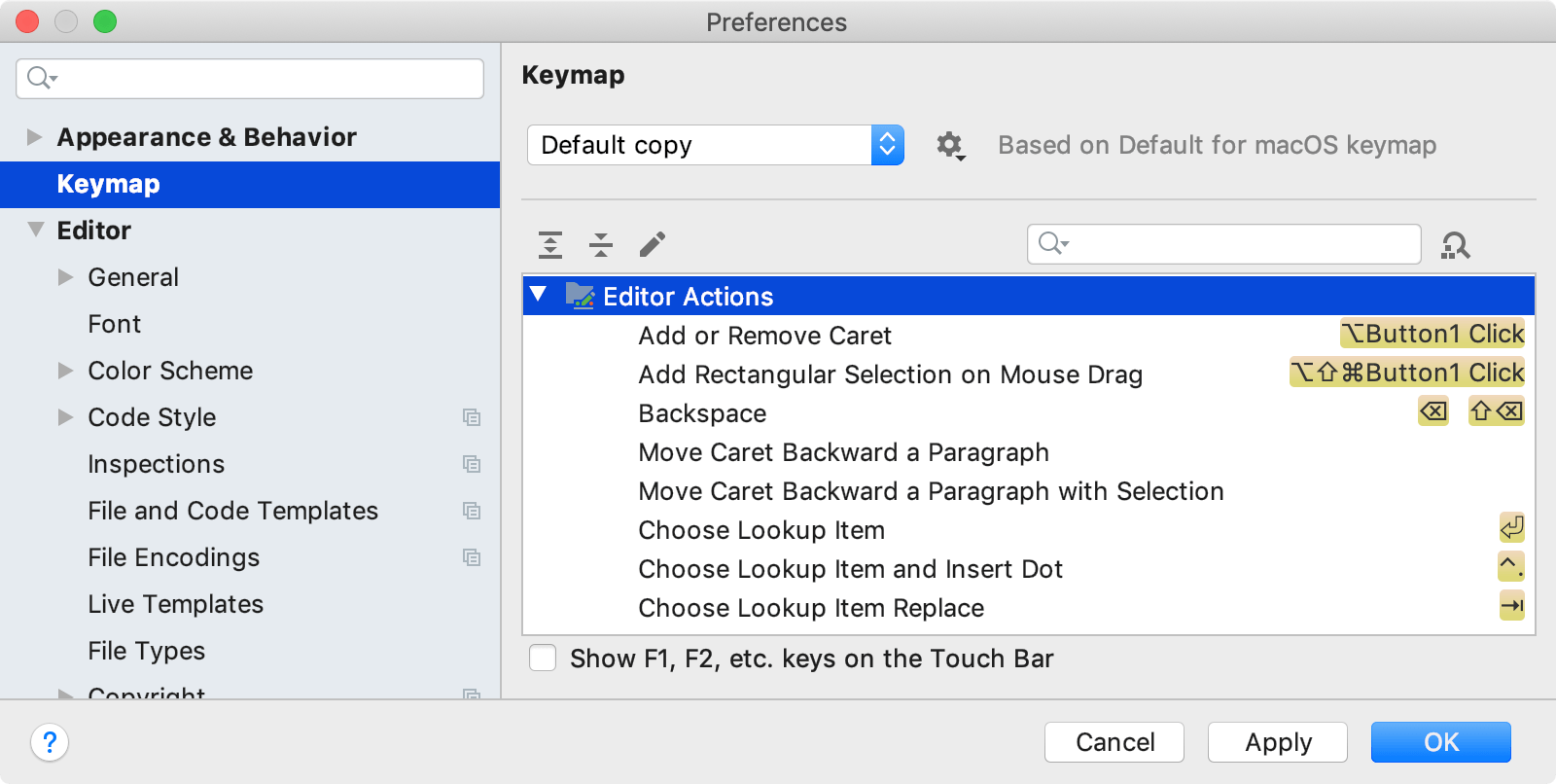 Configuring keyboard shortcuts - Help | PhpStorm