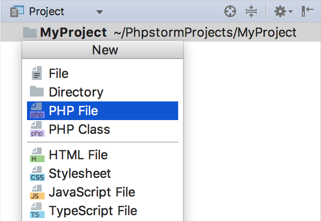 Creating Files from Templates - Help | PhpStorm