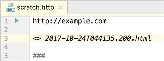 HTTP client in WebStorm code editor - Help | WebStorm