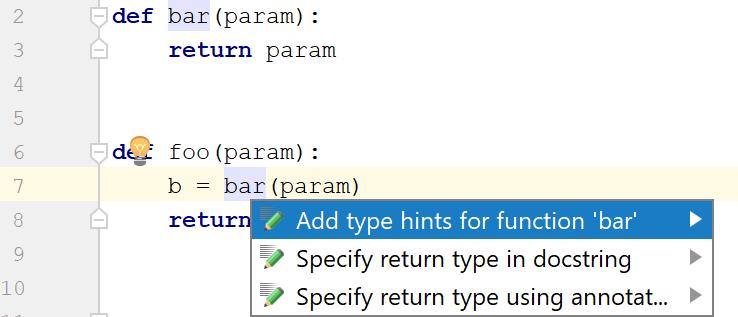 Type hinting in PyCharm - Help   PyCharm