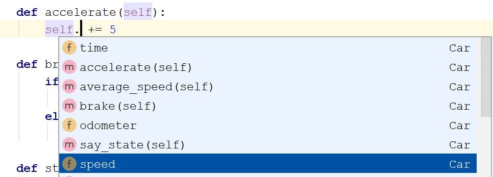 Code completion