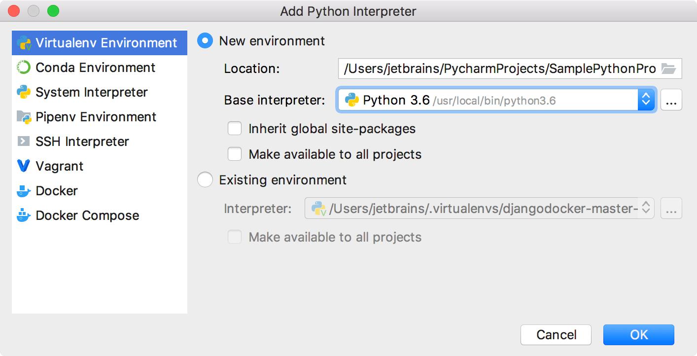 Create an empty Python project - Help | IntelliJ IDEA