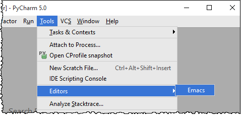 Using Emacs as an External Editor in PyCharm - Help | PyCharm