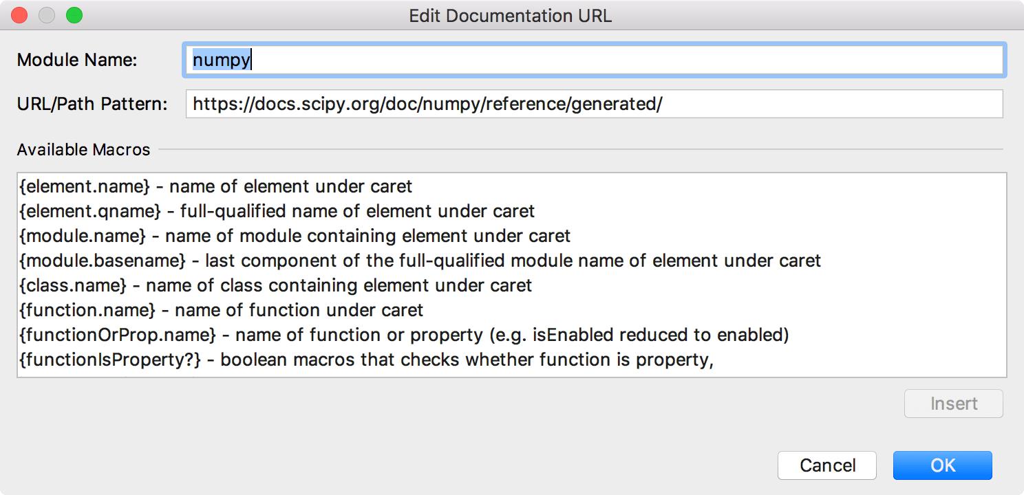 Adding a URL for numpy documentation