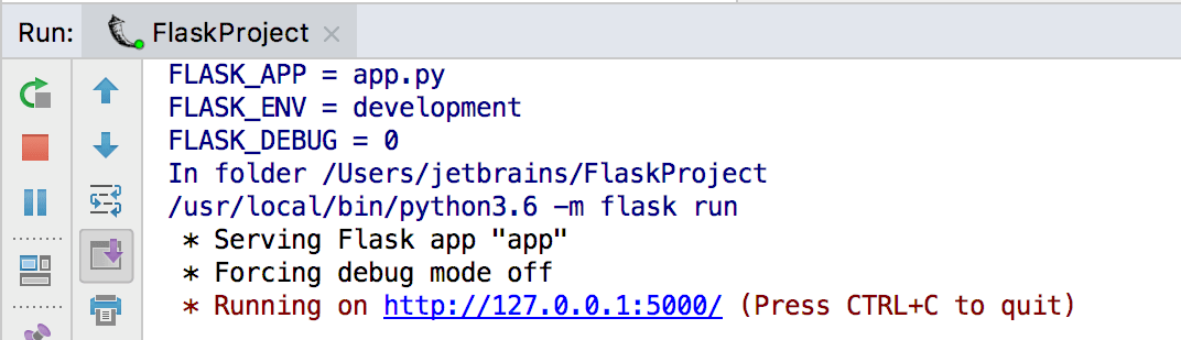 Creating a Flask Project - Help | PyCharm