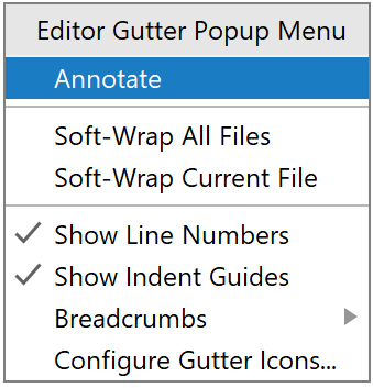 Editor Gutter Popup