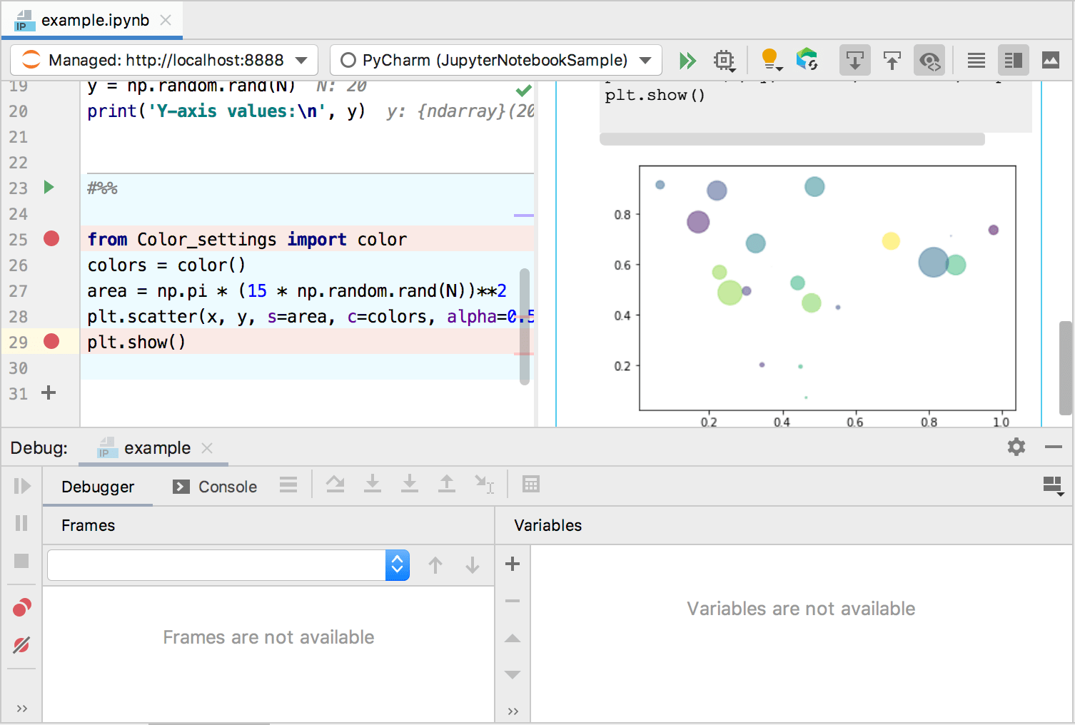 Running and Debugging Jupyter Notebook Cells - Help   PyCharm