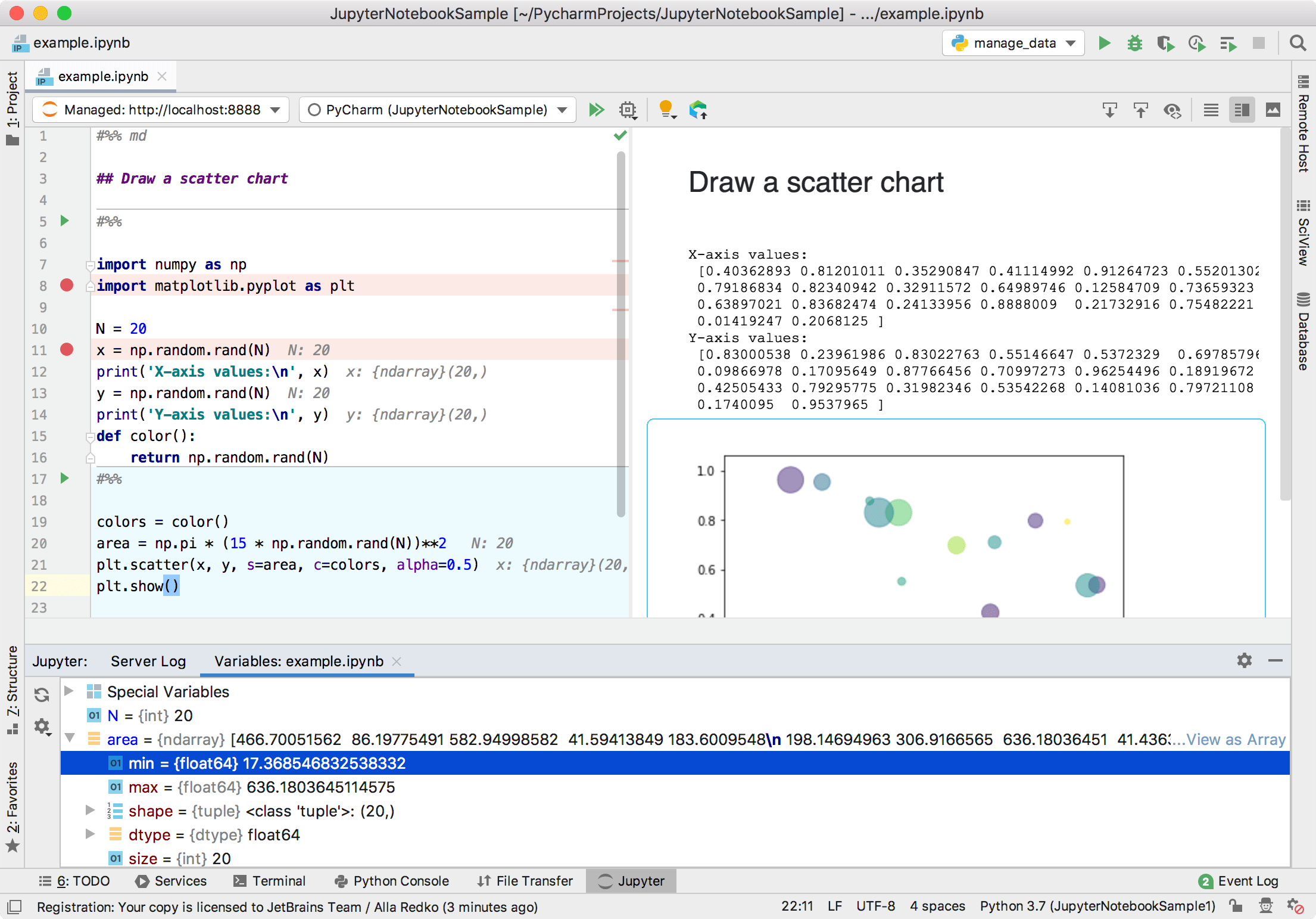 Jupyter Notebook Support - Help | PyCharm