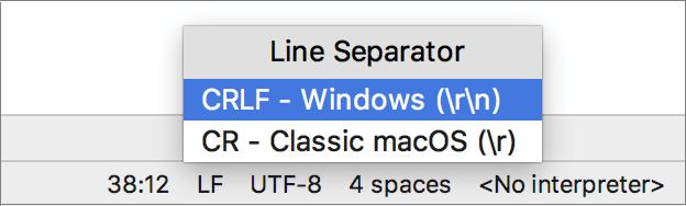 Configuring Line Separators - Help   PyCharm