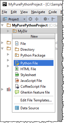 Creating Files from Templates - Help | PyCharm