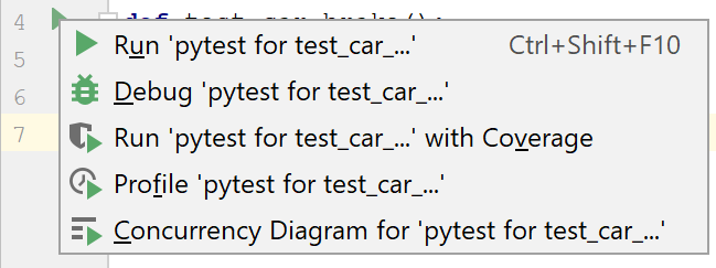 Suggested run/debug configuration for pytest