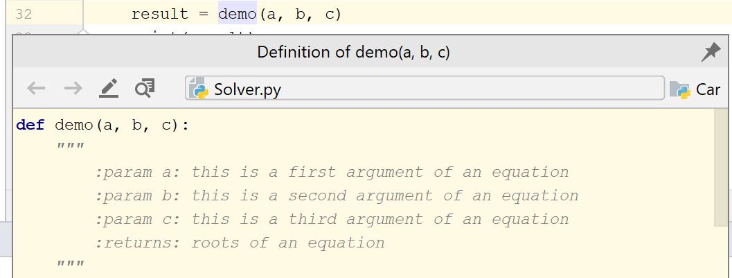 Quick Definition popup