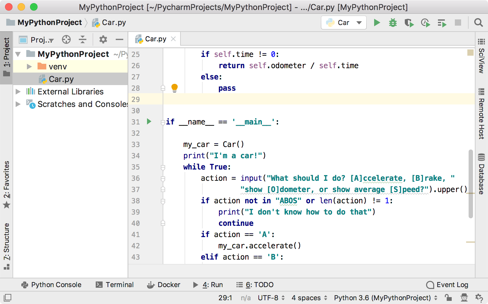 Step 1  Creating and Running Your First Python Project - Help | PyCharm